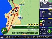 Map based microwave waypoint selection
